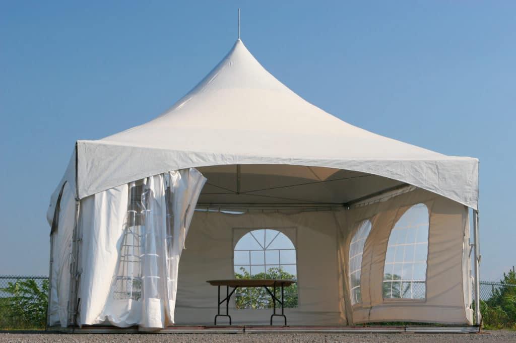 Empty Small Tent Kiosk