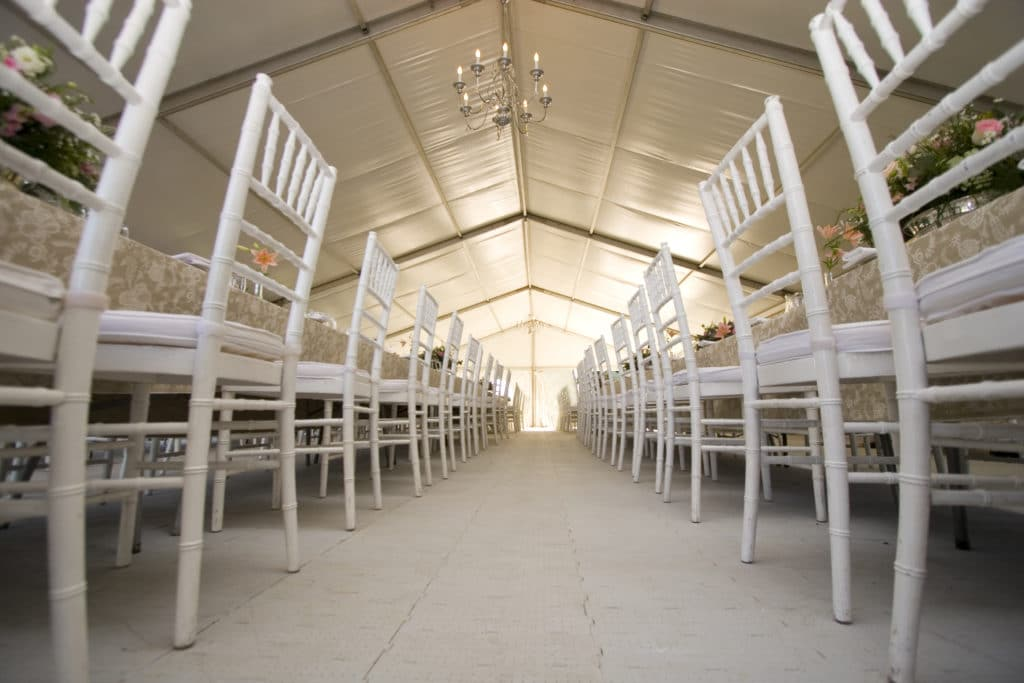 This was a massive tent used for a wedding. The wide angle worked well here...
