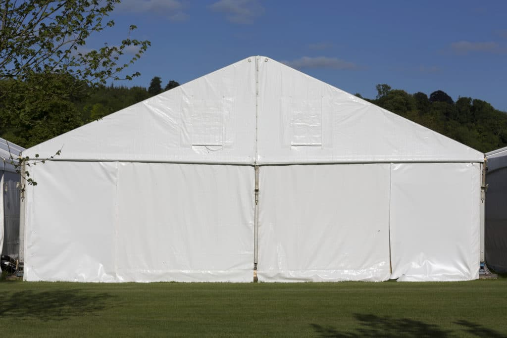 View of an event tent in Henley on Thames, UK.